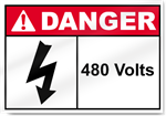 480 Volts Danger Sign