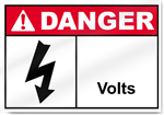 ____ Volts Danger Sign