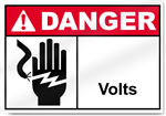 _____ Volts Danger Sign