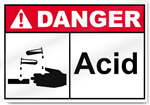 Acid Danger Sign
