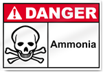 Ammonia Danger Sign