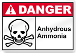 Anhydrous Ammonia Danger Sign