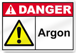 Argon Danger Sign
