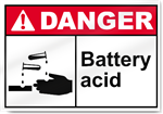 Battery Acid Danger Sign