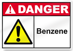 Benzene Danger Sign