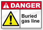 Buried Gas Line Danger Sign
