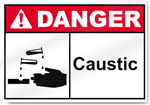 Caustic Danger Sign