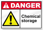 Chemical Storage Danger Sign