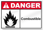 Combustible Danger Sign