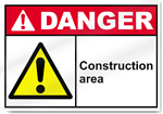 Construction Area Danger Sign