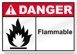 Flammable Danger Signs