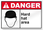 Hard Hat Area Danger Signs