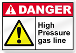 High Pressure Gas Line Danger Signs