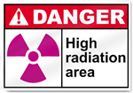 High Radiation Area Danger Signs