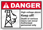 High Voltage Above Keep Off Danger Signs