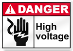 High Voltage Danger Signs