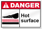Hot Surface Danger Signs