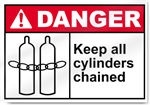 Keep All Cylinders Chained Danger Signs