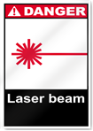 Laser Beam Danger Signs