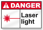 Laser Light Danger Signs