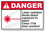 Laser Radiation Avoid Direct Exposure To Beam Danger Signs