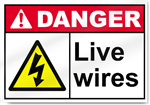 Live Wires Danger Signs