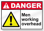 Men Working Overhead Danger Signs