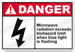 Microwave Radiation Exceeds Biohazard Limit Danger Signs