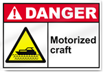 Motorized Craft Danger Signs