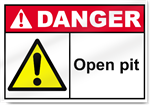 Open Pit Danger Signs