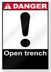 Open Trench Danger Signs