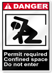 Permit Required Confined Space Do Not Enter Danger Signs