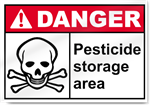 Pesticide Storage Area Danger Signs