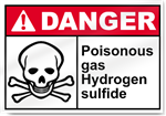 Poisonous Gas Hydrogen Sulfide Danger Signs