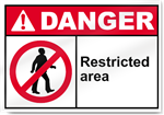 Restricted Area Danger Signs