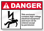 This Enclosure Contains High Voltage Electrical Equipment Danger Signs