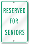 Reserved For Seniors Sign