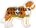 St. Bernard Dog Shaped Magnet