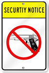 Security Notice Guns Are Banned Symbol Sign