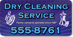 Dry Cleaning Service Magnet
