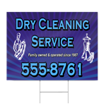 Dry Cleaning Service Sign