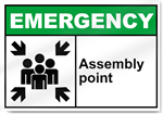 Assembly Point Emergency Signs