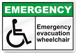 Emergency Evacuation Wheelchair Emergency Signs
