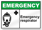 Emergency Respirator Emergency Signs
