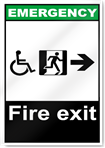 Fire Exit Right All Emergency Signs