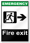 Fire Exit Right Emergency Signs