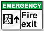 Fire Exit Up Emergency Signs
