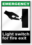 Light Switch For Fire Exit Emergency Signs