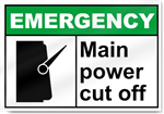 Main Power Cut Off Emergency Signs