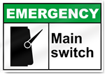 Main Switch Emergency Signs